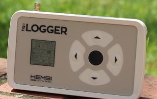 HEMGI LOGGER misst Temperatur im Freien