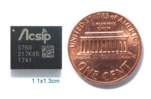 Größenvergleich: S76G kleiner als Centmünze