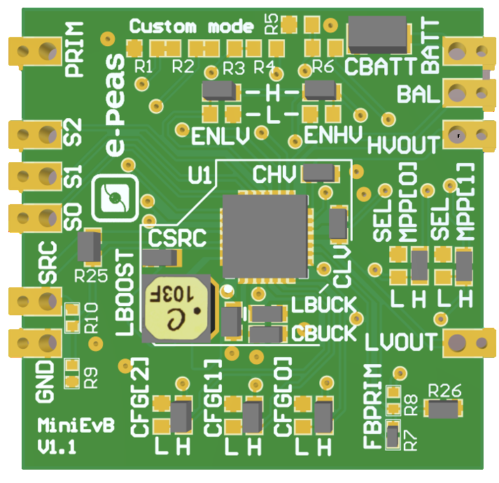 Mini-evaluation-board 10941-Photovoltaic-Energy-Harvesting