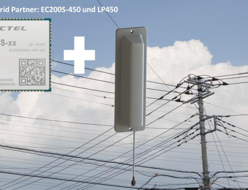 EC200S + LP450: Funkmodul-Antennen-Gespann für Applikationen im 450MHz Frequenzband
